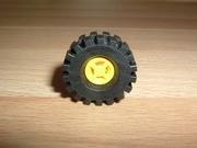 Roue jaune Ø 2,1 cm largeur 0,8 cm