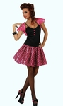 Deguisement costume Femme sixties rose  XL