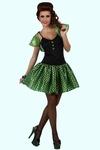 Deguisement costume Femme sixties vert