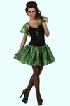 Deguisement costume Femme sixties vert  XL