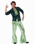 Deguisement costume Disco homme brillant vert XL
