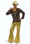 Deguisement costume Disco homme doré XL