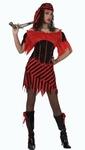 Deguisement costume Pirate femme rouge noir  XL