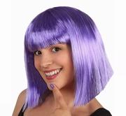 Perruque au carré violet