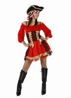 Deguisement costume Pirate femme rubans XL