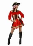 Deguisement costume Pirate femme rubans
