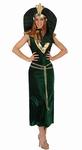 Deguisement costume Egyptienne Cléopâtre vert et or