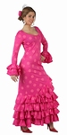 Deguisement costume Danseuse flamenco espagnole rose XL
