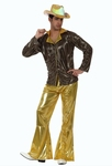 Deguisement costume Disco homme doré