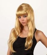 Perruque blonde cheveux longs