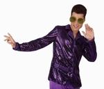 Deguisement costume Disco Chemise violette XL
