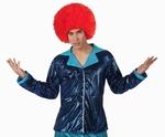 Deguisement costume Disco Chemise bleue XL