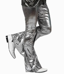 Deguisement costume Disco Pantalon argent XL