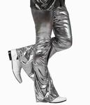 Deguisement costume Disco Pantalon argent XL