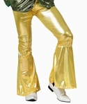 Deguisement costume Disco Pantalon or