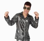 Deguisement costume Disco Chemise argent XL