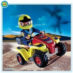 Playmobil Pilote quad rouge 4425