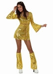 Deguisement costume Disco femme or XL