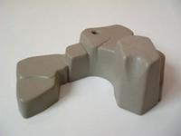 Rocher gris 1 trou