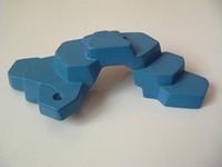 Rocher bleu plat 1 trou