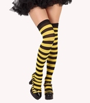 Bas rayés abeille jaune-noir