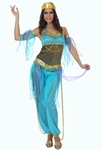 Deguisement costume Danseuse orientale bleu XL