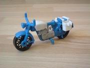 Moto première génération bleue