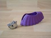 Equipement couverture et cuirasse pour cheval violet