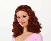 Perruque rousse frange courte
