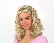Perruque blonde frange courte