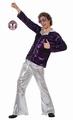Deguisement costume Disco homme violet XL