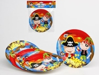 Assiettes Pirate x 6