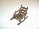 Rocking chair marron foncé