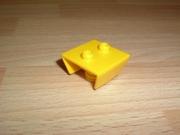 Avion fixation pour roue avant jaune