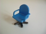 Fauteuil de bureau bleu