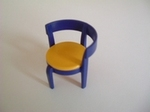 Chaise moderne bleu