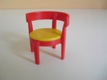 Chaise moderne rouge