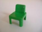 Chaise d'écolier verte