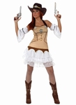 Deguisement costume Cow girl Sheriff  XL