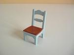 Chaise de cuisine bleue