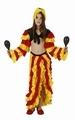 Deguisement costume Danseuse Rumba rouge jaune 10-12 ans