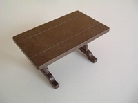 Table en bois marron neuve