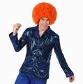 Deguisement costume Disco Chemise bleue  XS-S