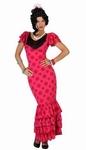 Deguisement costume Danseuse flamenco espagnole rose  XL