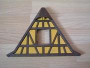 toit de maison à colombages jaune