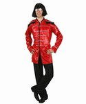 Deguisement costume Chanteur rock musicien rouge