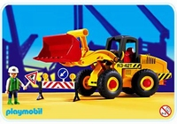 Playmobil Ouvrier bull chargeur 3934