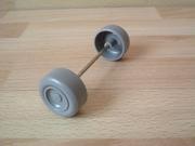 Roues avec essieu Ø 3,0 cm longueur 9,4 cm