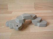 Rocher gris plat 1 trou