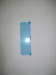 Porte vitrée bleue